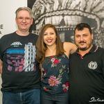 Os professores Saulo Michelin, Daniela Gamma e Andrei Frateschi