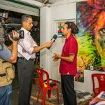 Artista Cristo Emílio em entrevista para a TV Record