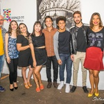 Os alunos expositores e o seu Professor Ary Sousa Filho