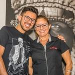 Professor Tiago Silva e a coordenadora de eventos Mirian Ruth